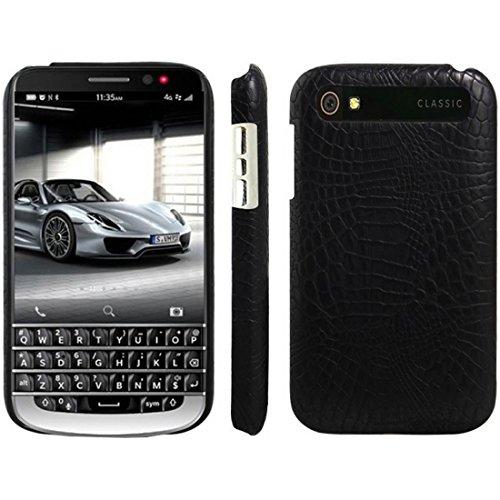 HualuBro BlackBerry Classic Hülle, [Ultra Slim] Premium Leichtes PU Leder Leather Handy Tasche Schutzhülle Hülle Cover für BlackBerry Classic Q20 Smartphone (Schwarz)