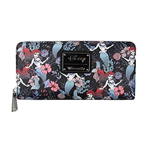 Loungefly x Ariel Floral Zip Around Wallet