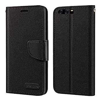 Huawei P10 Plus Case Oxford Leather Wallet Case with Soft TPU Back Cover Magnet Flip Case for Huawei P10 Plus