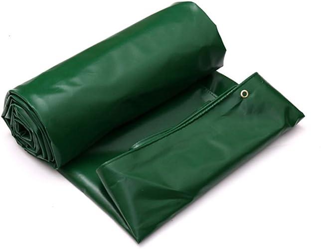 Poncho Bache De Prougeection Solaire Imperméable Multifonctionnelle (vert)   Imperméable, Résistant   Tente Camping Hamac Piscine Jardin Voiture Moto LIUYUNY (Taille   4m×4m)