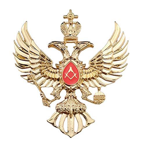 JXS Repliken der sowjetischen Militärabzeichen, russische Freimaurry-Abzeichen, doppelköpfige Eagle-Kappe Abzeichen Military Fan Badge-Kollektion