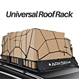 ARKSEN 64' Universal Roof Rack Cargo Extension with Cargo Net Car Top Luggage Holder Carrier Basket SUV Camping, Black