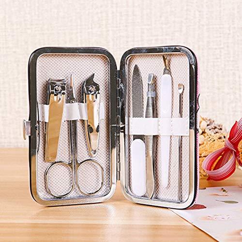 7Pcc / Set Dessin Animé Mignon Imprimé Ongles Clip Set Professionnel Soins Des Ongles Set Voyage Portable Toe Nail Clipper Kit Ensemble Nail Art Outils