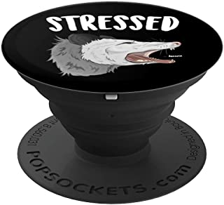 Stressed Possum Anxiety Disorder Funny Screaming Opossum PopSockets Grip and Stand for Phones and Tablets