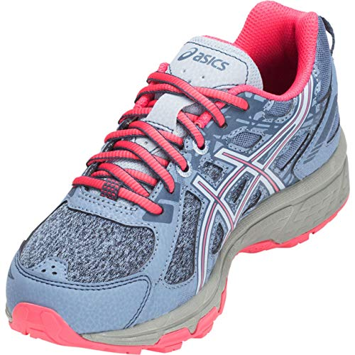 ASICS Kids Gel-Venture 6 GS Running Shoe, Blue Hrmny/Pnk Cmeo - 6.5 D(M) US