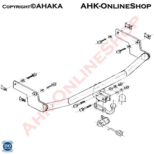 Anhängerkupplung Anhängevorrichtung Hängevorrichtung - starr, mit angeschraubtem Kugelkopf - STP-025 AHAKA