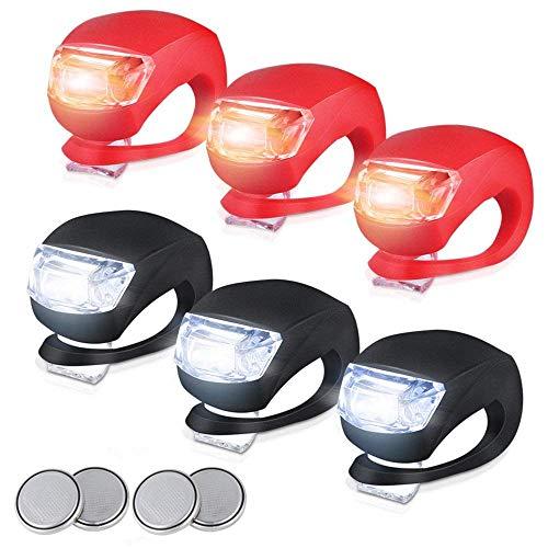 Sayla LED Lampe LichtKinderwagen Licht Kinderwagen Sicherheitslicht Leuchte Kinderwagen Taschenlampe für alle Kinderwagen Bergsteiger Kinderwagen,Fahrrad-Rückleuchten Frosch Lampe (Schwarz + Rot)