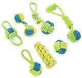 GLOBALDREAM Hundeseile, 7 Stück Interaktives Spielzeug Seil Langlebig Hunde Kauen Spielzeug Hundespielzeug Welpe Pet Spielzeug für kleine und mittelgroße Hunde Welpenspielzeug (Grün)