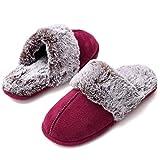 HARRMS Zapatillas Casa Mujer, Elegante calentito Ultraligero cómodo y Antideslizante, Pantuflas de casa para Mujer, Granate, 38/39 EU