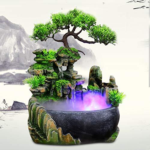 Fuente de Agua Interior & Exteriore Cascadas de Agua Decorativas Fuente de Meditación Zen para Casa Oficina Sala Dormitorio Mesa Decoración
