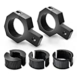 Nilight 90023B 2-Pack (Standard) Mounting Bracket Kit LED Off-Road Light Vertical Bar Tube Clamp Roof Roll Cage Holder,2 Years Warranty
