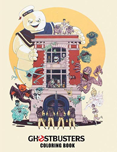 Ghostbusters Coloring Book: Over 50 Ghostbusters illustrations. Confidence And Relaxation Coloring Books For Kid And Adult Color Wonder Creativity