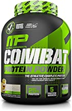 MusclePharm Combat Protein Powder, Essential Whey Protein Powder, Isolate Whey Protein, Casein and Egg Protein with BCAAs and Glutamine for Recovery, Cookies 'N' Cream, 4-Pound, 52 Servings