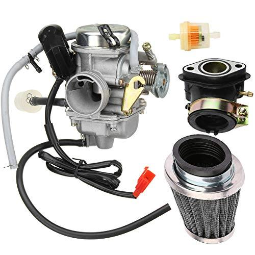 New 150cc Carburetor + intake manifold/air filter for GY6 125cc 150cc 152QMI 157QMJ Engine Based ATV Scooter Go Kart