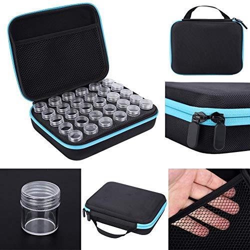 idalinya Diamant-Stickbox, Craft Organizer Case 30 Slots Diamant-Malwerkzeug Diamant-Stickbehälter, für DIY Diamant-Malerei DIY Kunsthandwerk(Blue)