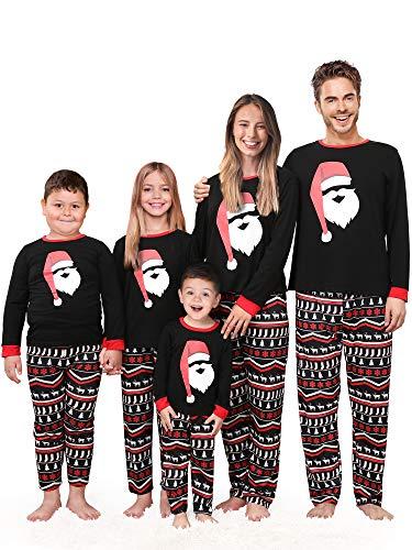 Rnxrbb Matching Family Christmas Holiday Pajamas Family Pjs Set Cotton Sleepwear Santa Claus Xmas Jammies