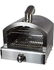 ACTIVA Pizza Box - Horno de pizza para barbacoa, con indicador de temperatura, para barbacoas de carbón vegetal y de gas, con piedra para pizza