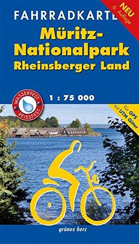 Fahrradkarte Müritz-Nationalpark, Rheinsberger Land: Mit UTM-Gitter für GPS. Wasser- und reißfest. (Fahrradkarten)