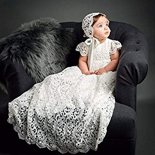 Lola Girls Lace Heirloom Christening and Baptism Gown & Bonnet