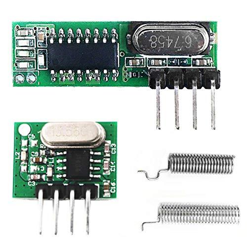 ZSYUN Funk Empfangs- und Sendemodul Einbruchalarm Rauchmelder Modul 433.92MHz Superheterodyne RF...