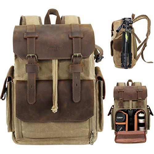Endurax Leather Camera Backpack ...