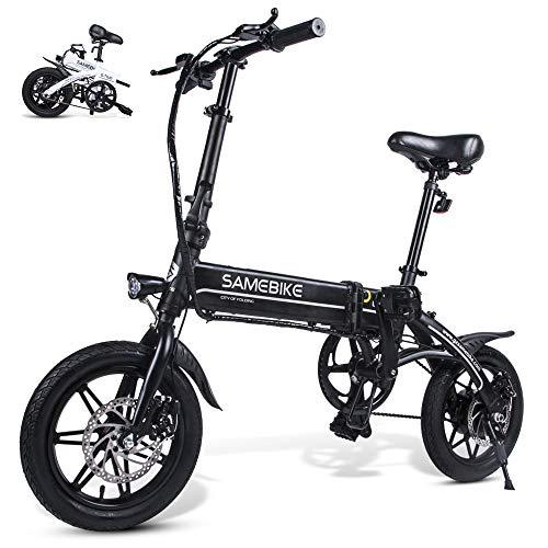 Samebike YINYU14 250w Folding Electric Bike 36V 8AH Lithium Battery Electric Bikes for Adults (Black)