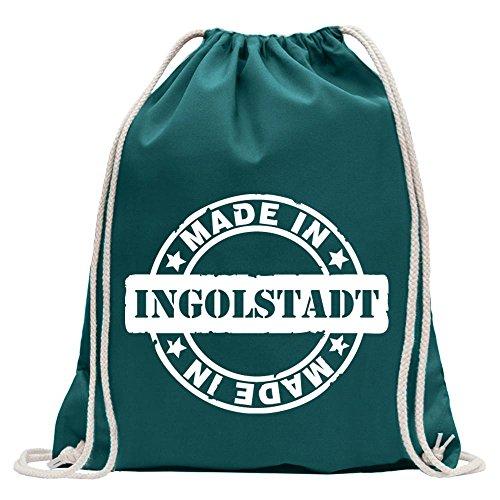 Kiwistar Made in Ingolstadt Divertente zaino sportivo per il fitness. Gymbag per lo shopping in cotone con coulisse