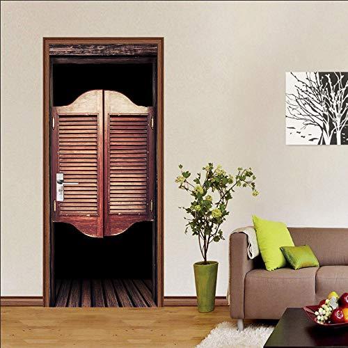 Deursticker 3D deursticker voor binnendeuren, kinderkamer, spiegel, kleine boot en muur, personaliseerbaar, badkamereffect, deurposter
