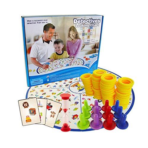 RKL Más de 3 Juegos de Mesa para niños, pequeños Detectives para Encontrar Juguetes con imágenes, Batalla interactiva de Capacidad Intelectual Entre Padres e Hijos