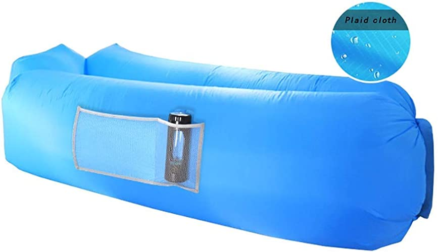 GFF Canapé Gonflable - air Paresseux en Plein air portable Sac de canapé Unique air Pause déjeuner Vacances air lit 5 Couleurs en Option (Couleur  A)