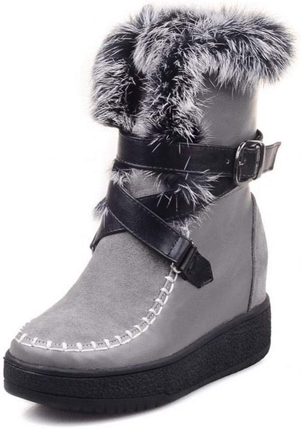 Women's Boots - Increased in Autumn and Winter Non-Slip Warm High Snow Boots Tube Women's Cotton shoes Plus Velvet Women's Boots 33-40
