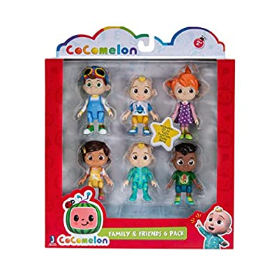 Cocomelon Family & Friends 6 Figure Pack Mixed WT80107 by Jazwares