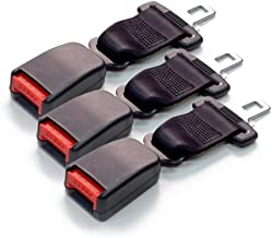 - E-4 // E-8 Safety Certified 3-Pack Universal Bolt-in 12 Inch Seat Belt Lengthener - Easy Installation Buckle Up and Drive Safely Again All Parts Included Black