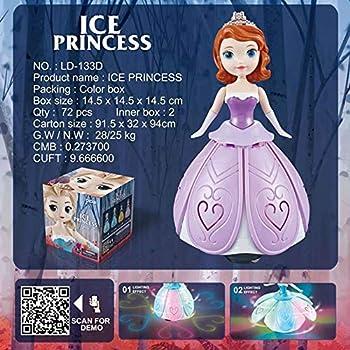 YUY Robot De Princesse Dansante, Poupée Elsa Anna avec Figurine d'action d'ailes, Poupées De Modèle De Musique Légère à Projection Rotative,B
