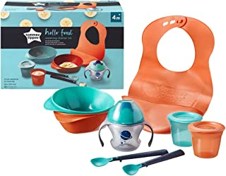 Tommee Tippee Hello Food, avvänjningsset, 8 delar, från 4 månader, diskmaskinssäker, BPA-fri