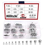 Hilitchi 510 Pcs Metric Precision Chrome Steel Bearing Ball Assortment Kit