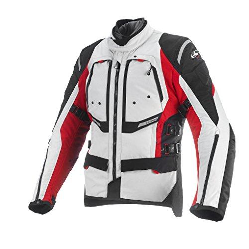 Clover Herren Motorradjacke Airbag Kompatibel, Rot/Weiß, XXL