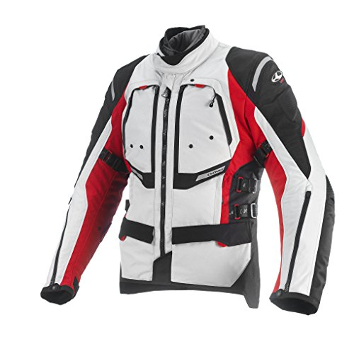 Clover GTS de 3Hombre Moto Chaqueta Airbag compatible, color rojo