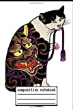 Composition Notebook Antique Japanese Woodblock Print Cat with Flower Tattoos: Antique Japanese Woodblock Print Cat with Flower Tattoos Composition ... password book, Logbook To Protect Username