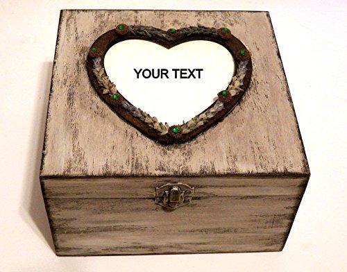 Personalisierte Hochzeit Box, Individuell gestaltete Hochzeitskarte Box, Ländliche Hochzeit Geschenk, Abschluss Geschenk Schmuckschatulle
