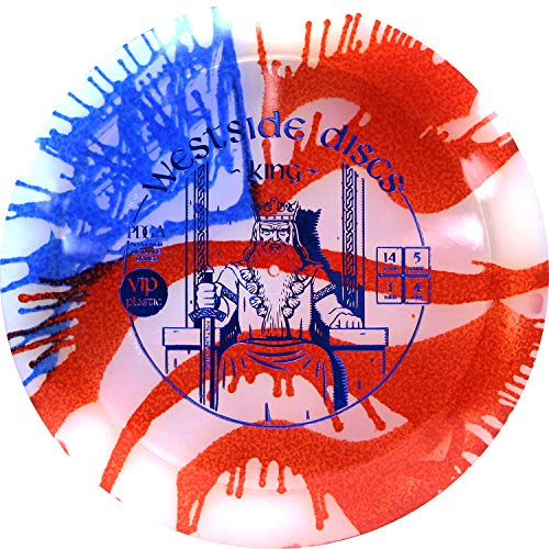 Westside Discs MyDye American Flag Hybrid King Disc Golf Driver | Maximale Distanz Frisbee Golf Driver | Stabile Golfscheibe | Stempelfarben variieren