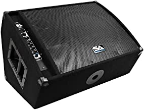 Seismic Audio FL-15MP-PW 400 Watts RMS Premium Powered 2-Way 15-Inch Floor/Stage Monitor with Titanium Horn