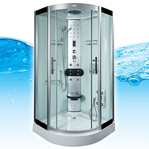 AcquaVapore DTP8058-5003 Dusche Dampfdusche Duschtempel Duschkabine -Th 90x90XL, EasyClean Versiegelung:JA mit 2K Scheiben Versiegelung