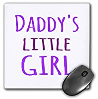 3drose Daddys Little GirlパープルテキストFunギフトDaddiesガールズマウスパッド(MP 193723_ 1)