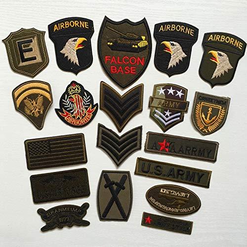 NANANA Super Calidad 9 Piezas Mezcla de Motivos Militares Conjunto de Parches Bordados para Ropa Coser Hierro en la Ropa Insignia Parche Apliques del ejército 10 Piezas
