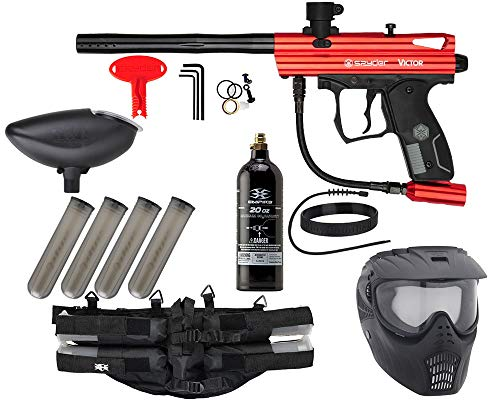 Action Village Kingman Spyder Epic Paintball Gun Package Kit (Victor) (Red)