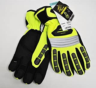 Black Stallion Toolhandz GW101 Hi-Vis Spandex Extreme Winter Gloves, L