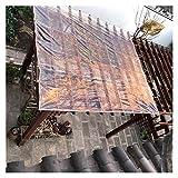 LSXIAO Exterior Lona Cubrir, Transparente Hoja, Impermeable Flexible Resistencia Al Desgarro con A Prueba De Herrumbre Ojales para Coches De Cobertura, Techo, Mueble De Jardín