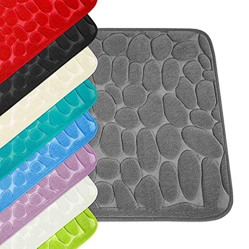 WohnDirect Tappeto da Bagno con Memory Foam • Tappetino Antiscivolo • Lavabile e ad Asciugatura Rapida • Ideale Come Tappetino da Doccia • Tappeto per Bagno 60 x 100 cm • Colore: Beige