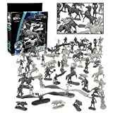 SCS Direct Fantasy Creatures Action Figure Playset - 56pc Monster Toy Collection w/ 12 Unique Sculpts (Includes Direwolves, Cyclops, Phoenixes, and More) - Great for Roleplaying and D&D Gaming